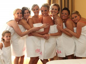 Bridal Shower Embroidered Robes for a Touch of Luxury